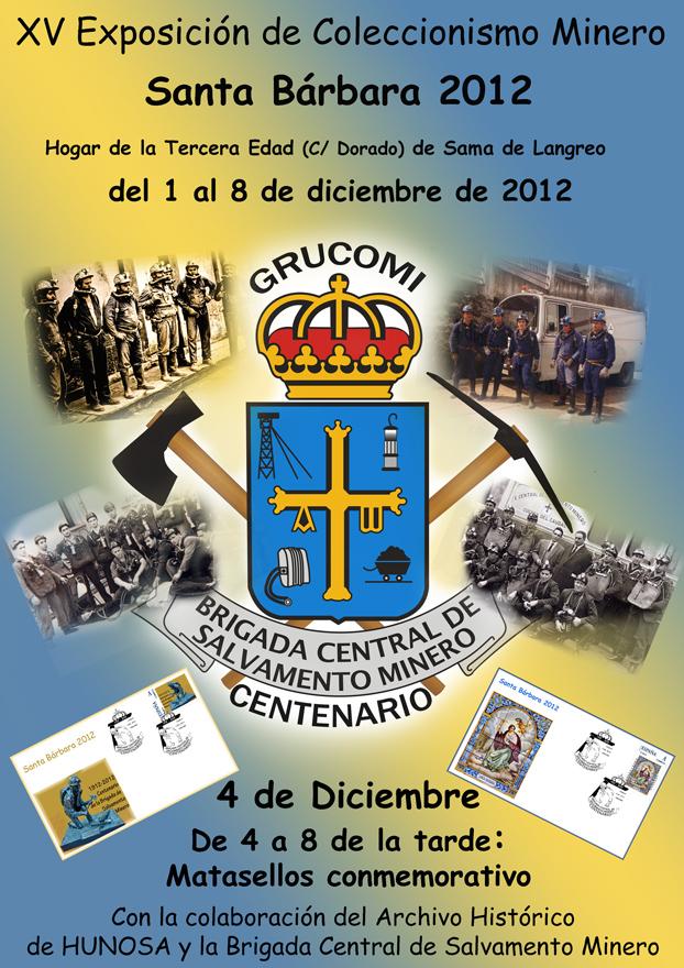 Cartel de la exposición que Grucomi dedicó al Centenario de la Brigada de Salvamento Minero