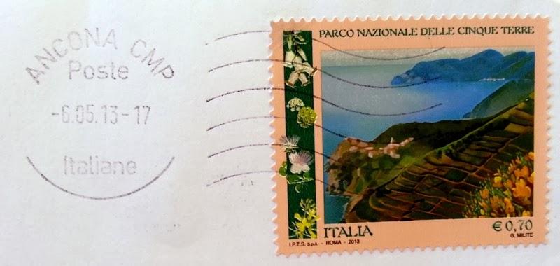 francobollo Parco nazionale delle Cinque Terre