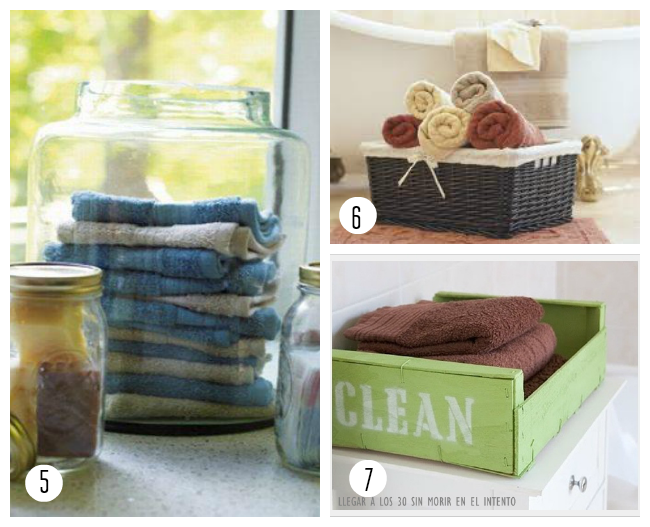 10 ideas para guardar las toallas del ba o - Toallas bano ...