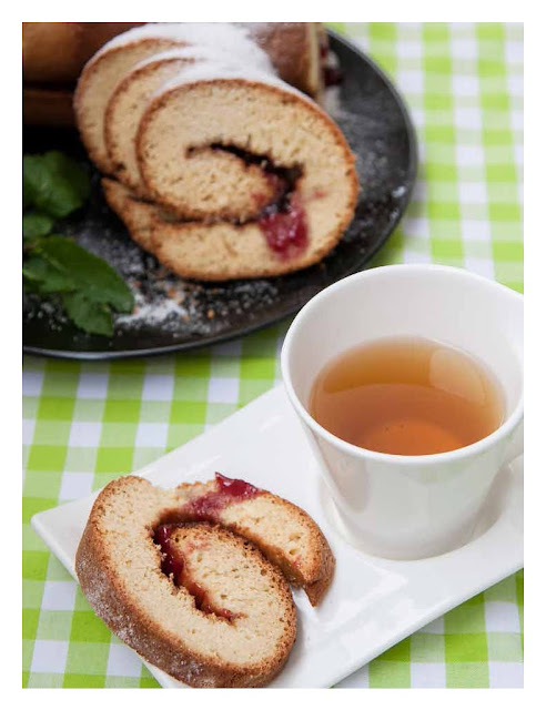рулет с джемом, армянская кухня, рецепты, сладкая выпечка, десерт, чай, Анна Мелкумян,