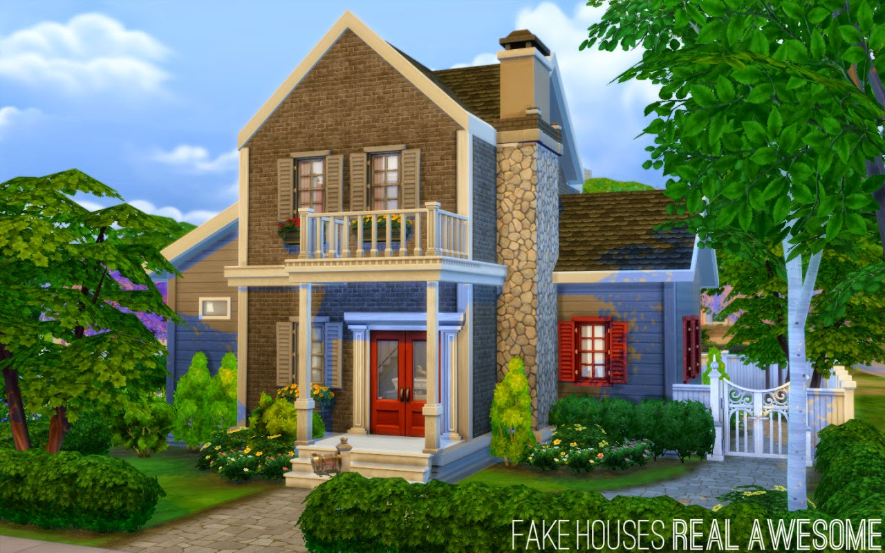 My Sims 4 Blog New Houses No CC By Fake Real Awesome