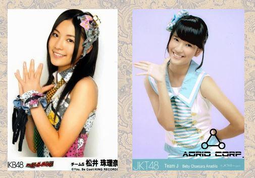 Jurina Matsui (AKB48) dan Beby Chaesara Anadila (JKT48)