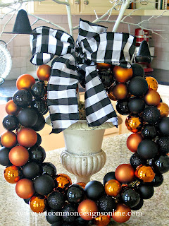 Classic Ornament Halloween Wreath by Uncommon Designs Online.
