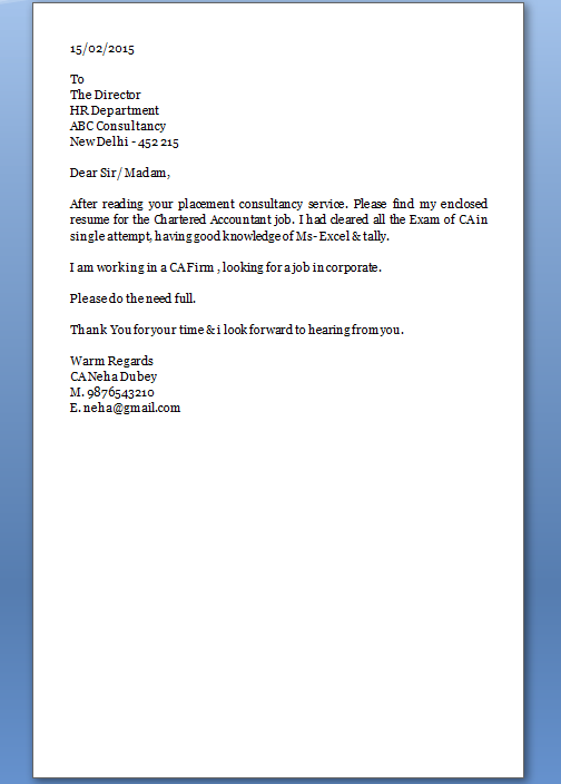 great cover letter
