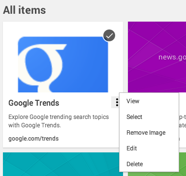 The new bookmark manager uses Google to search the full content of