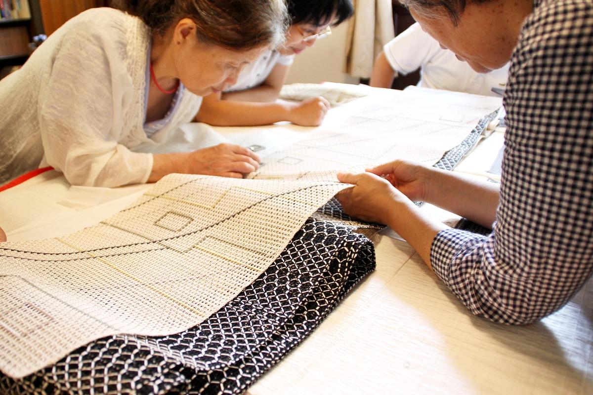 7月の着物勉強会「きもの塾」の様子