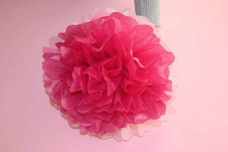Con mucho gusto Flores con papel Tutorial paso a paso