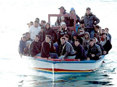 Lampedusa: boatload of refugees #9