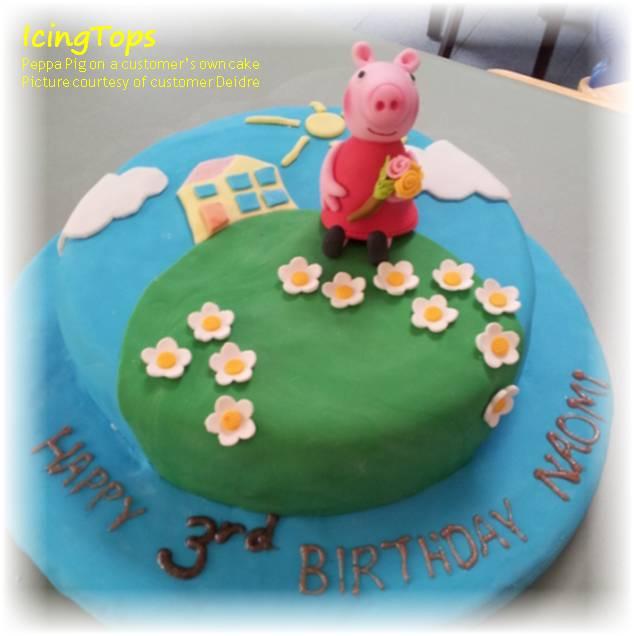 Peppa pig cake template auto design tech for Peppa pig cake template free