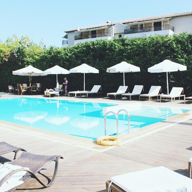 Instagram @lelazivanovic (Jelena Zivanovic).Corfu Mare boutique hotel, Corfu town.