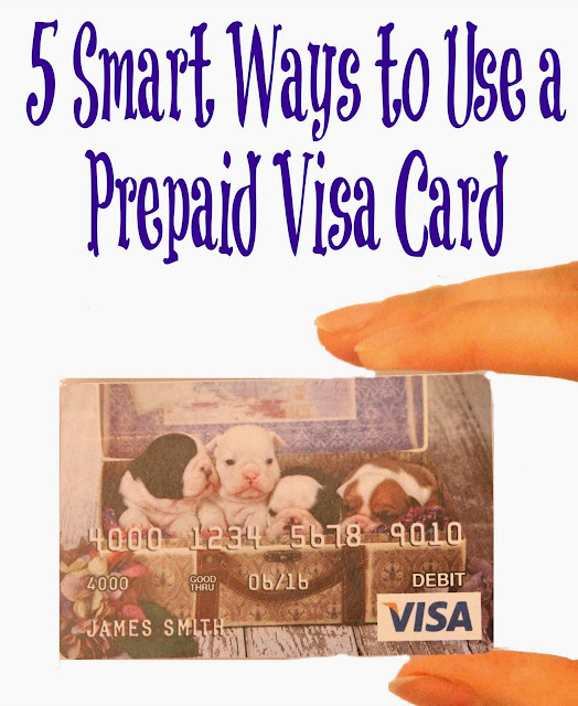 5 smart ways to use a prepaid Visa card - Redhead baby mama