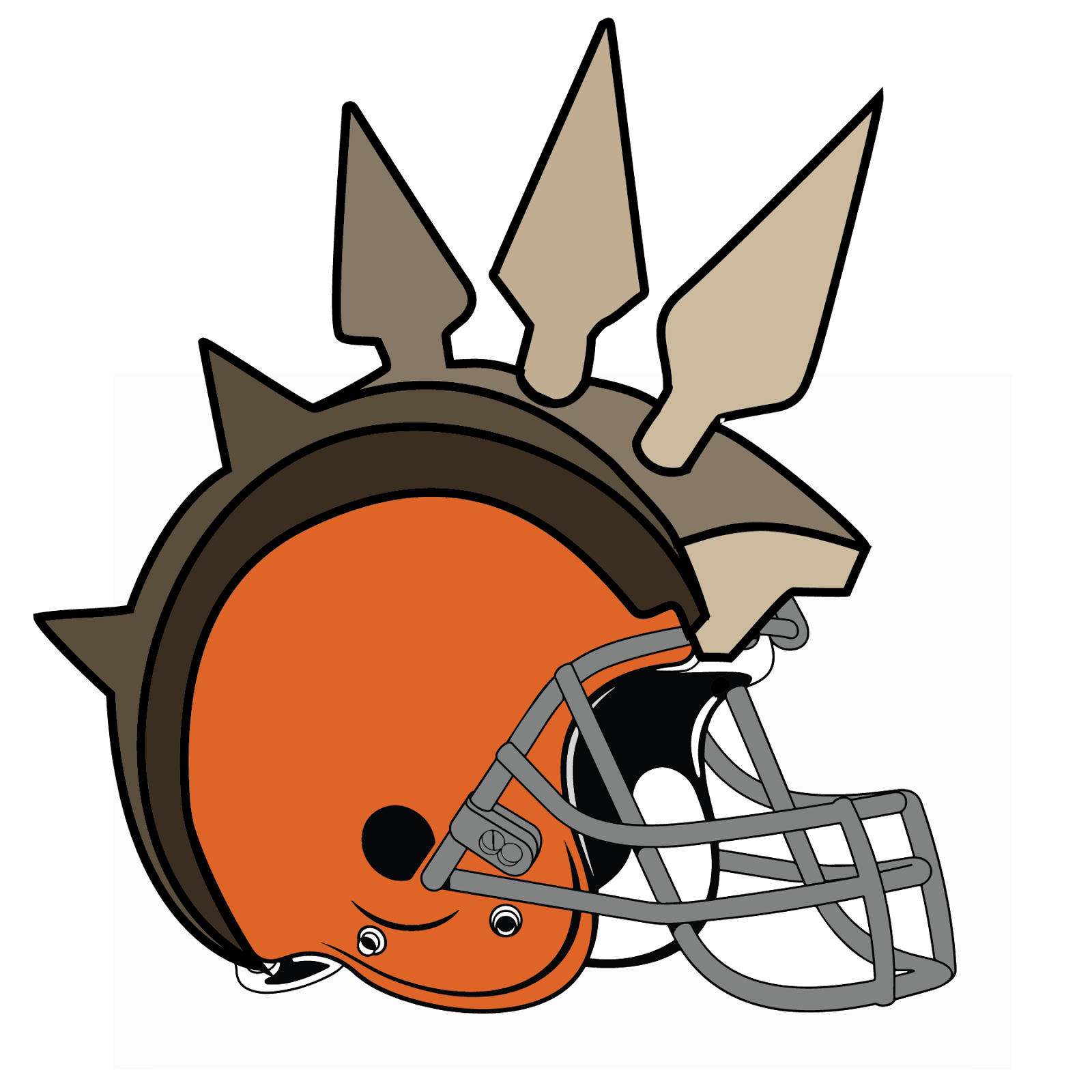 Cleveland Browns, metal, logo, re-imagined