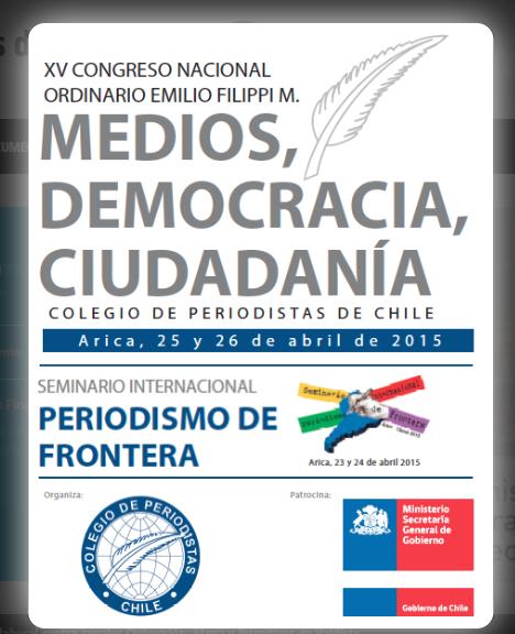 Profesionales de todo el país se reunirán en Arica para participar en XV Congreso Nacional del Colegio de Periodistas