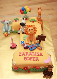 No.1 cake Animal Safari