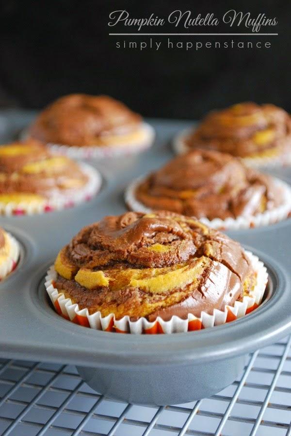 Pumkin Nutella muffins