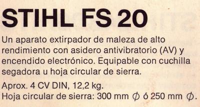 Stihl FS 20