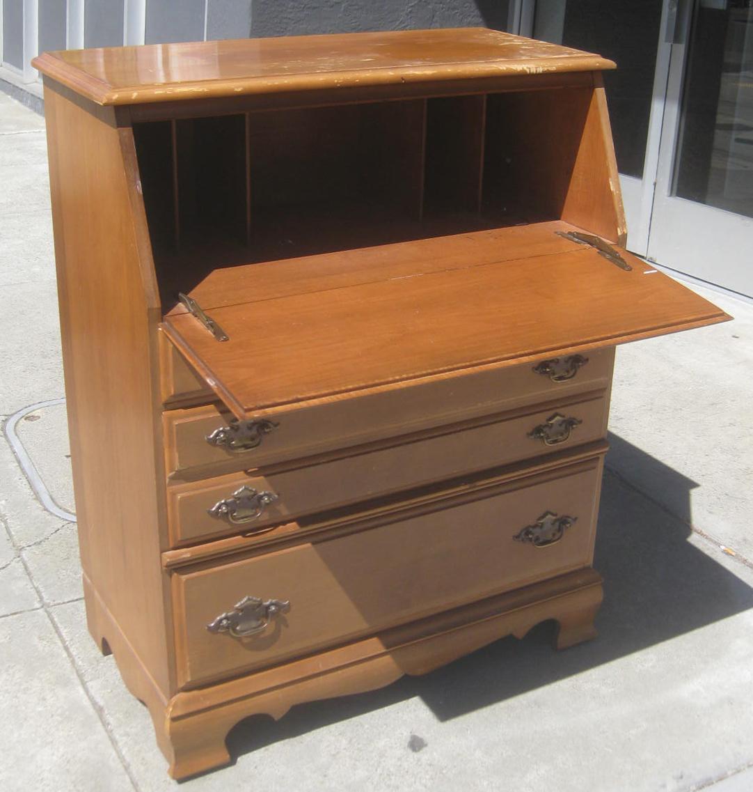 Uhuru Furniture Collectibles Sold Maple Secretary