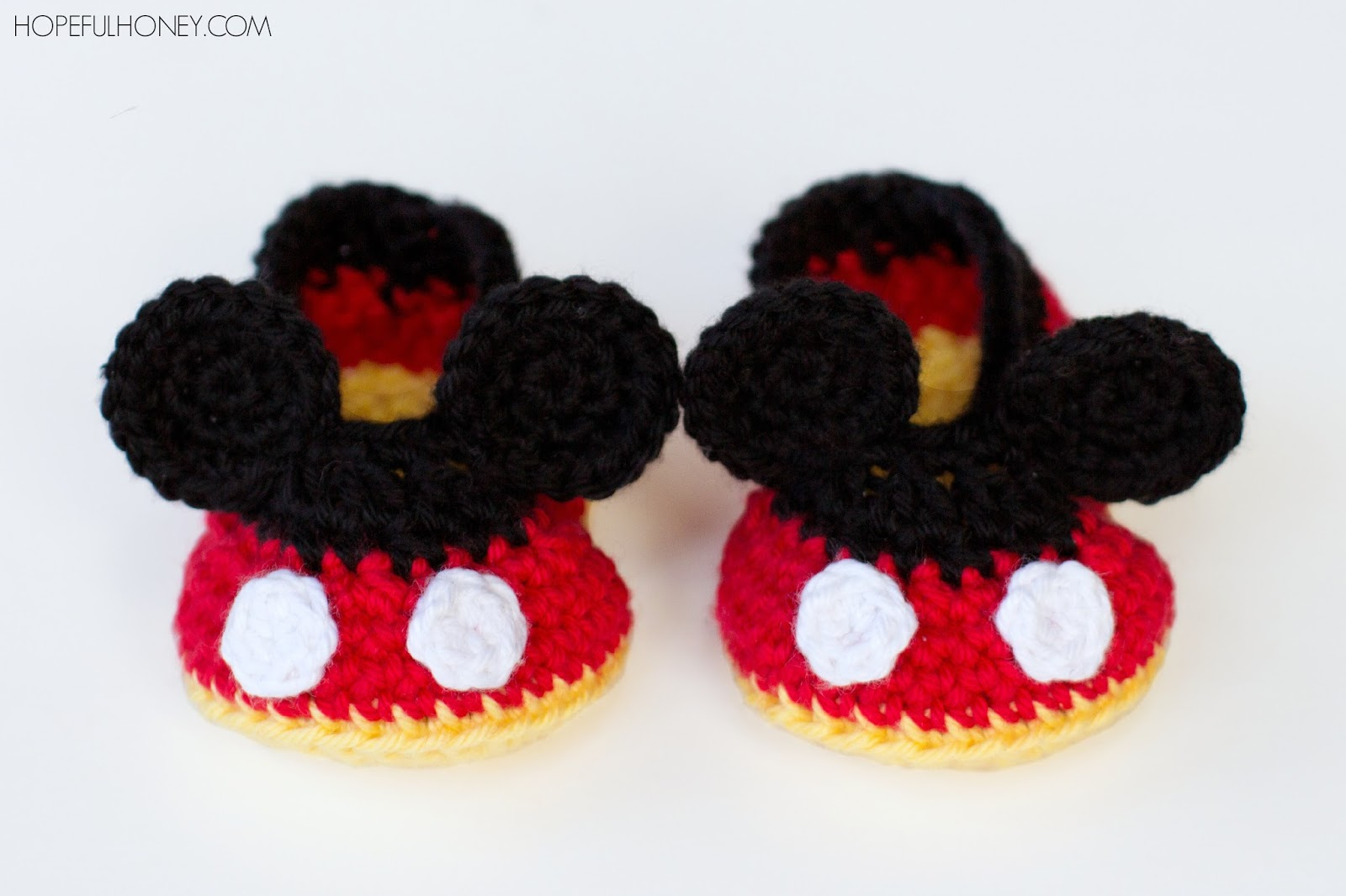 Mickey Mouse Baby Booties - Interweave