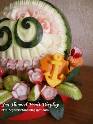 sea theme watermelon carving