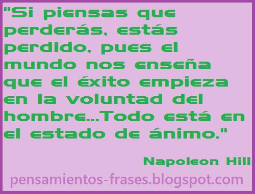 frases de Napoleon Hill