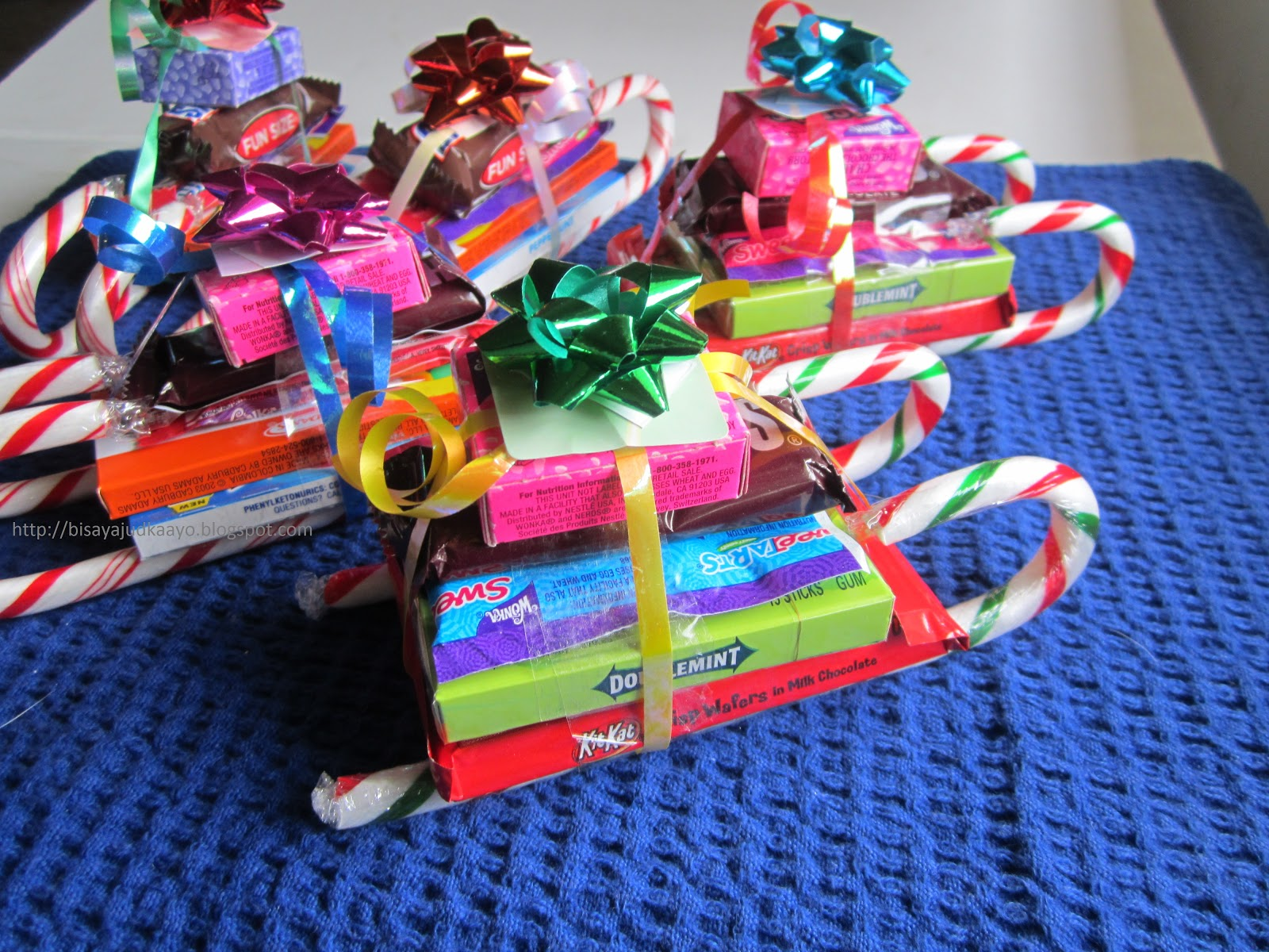 a word of cautionyoull definitely be on sugar high as you are making these i probably ate a pack of snickers so discipline is a must - Candy Sleighs For Christmas