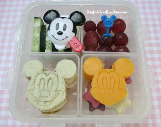 Bento School Lunches : Bento Lunch: Mickey Mouse bento