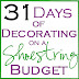 31 Days of Decorating on a Shoestring Budget Day 1