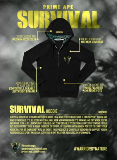Prime Ape Survival Hoodie