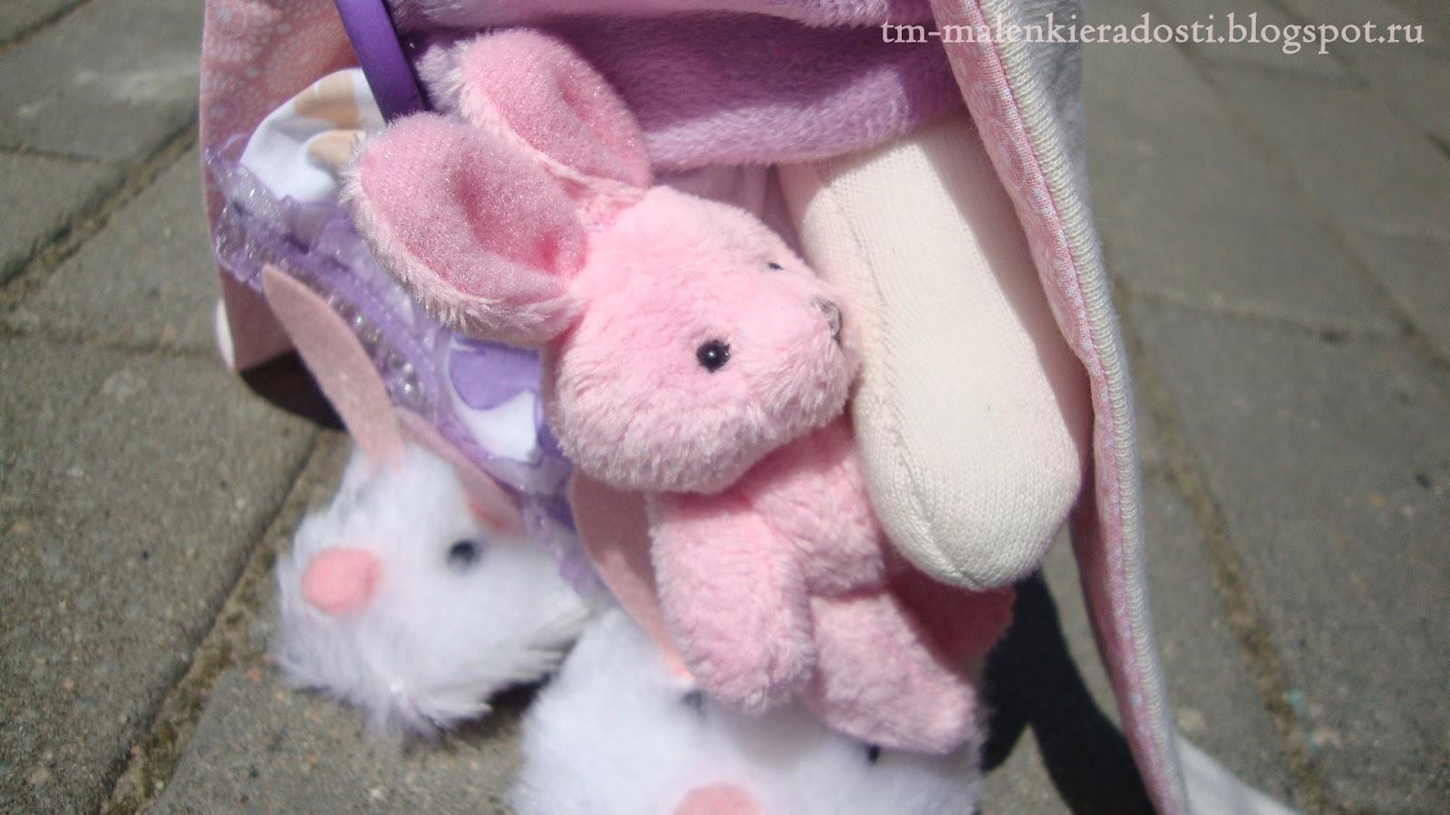 Интерьерная Зайка ручной работы с большими ушами