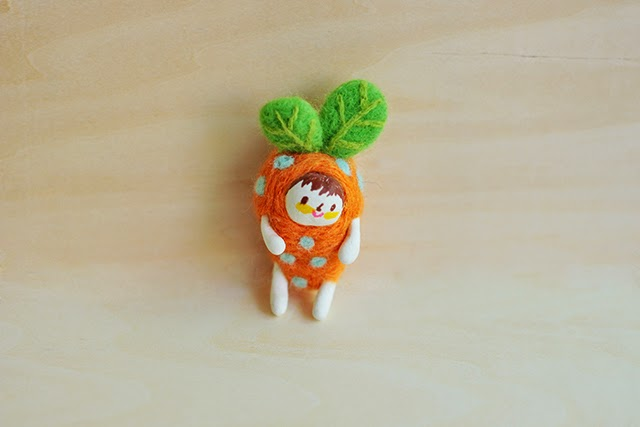 zanahoria fieltro lana manualidades Xiao Zeng