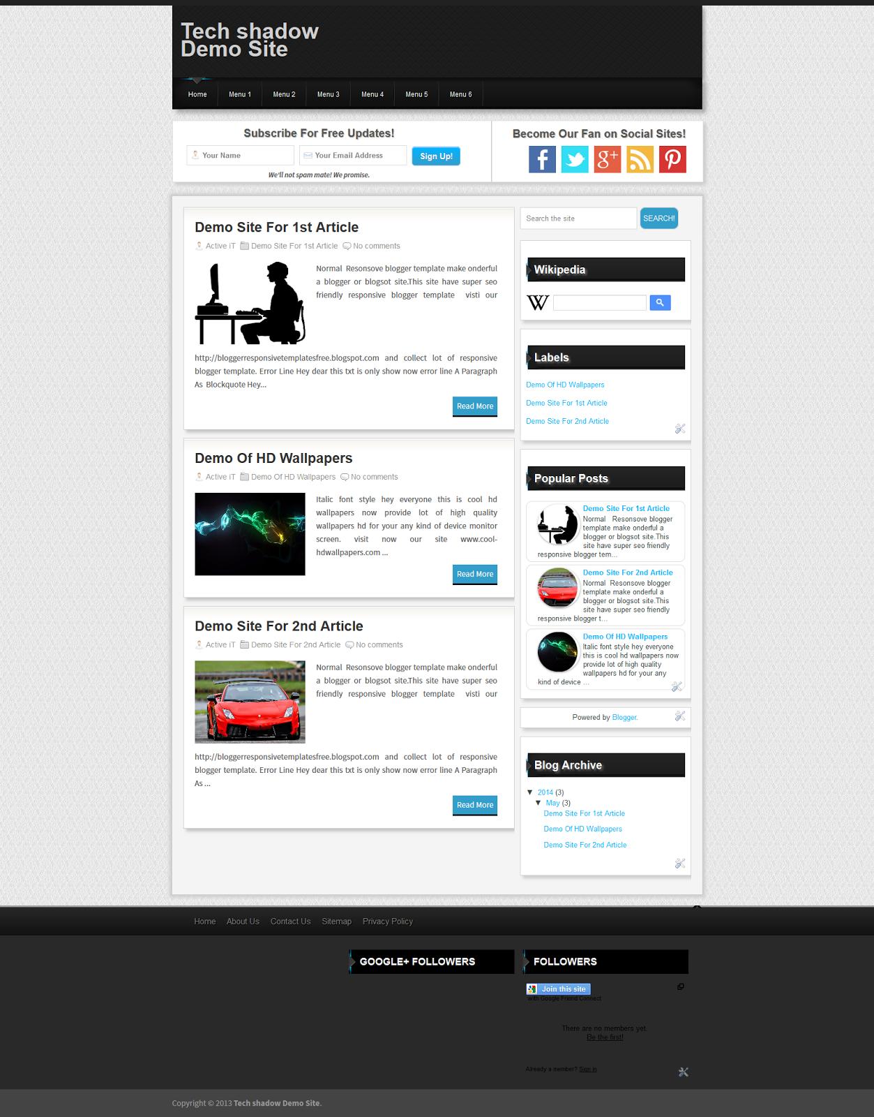 Top 10 Best Responsive Blogger Templates 2014 Free Download Get