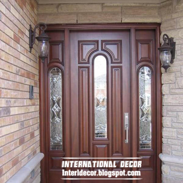Classic wood doors designs colors wood doors with glass for Door design catalogue in india