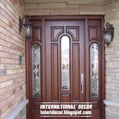 classic wood doors designs colors wood doors with glass