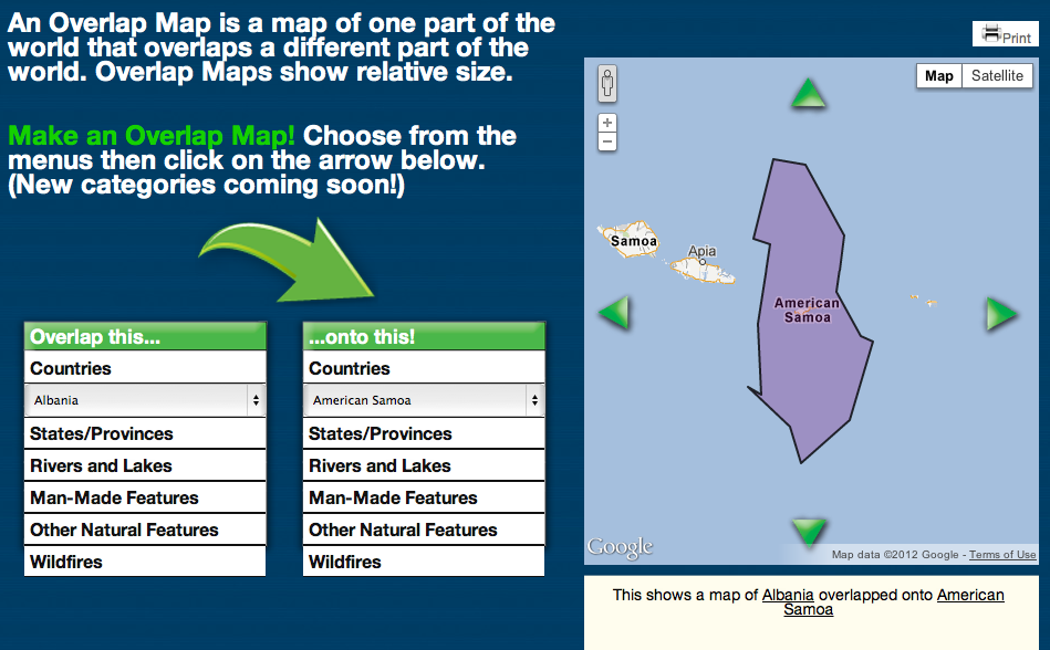 free technology for teachers overlap maps quickly pare the