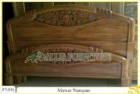 Tempat tidur kayu jati ukir jepara Mawar Nampan murah.Jakarta