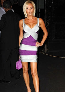 Victoria Beckam in purple