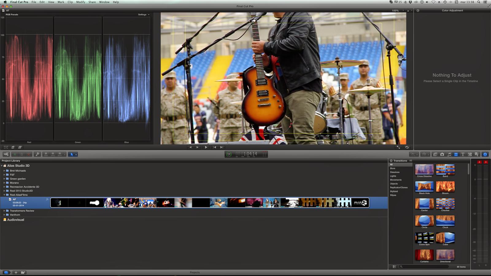 captura post producción corrección de color