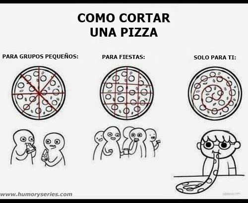 imagenes graciosas - como cortar pizza