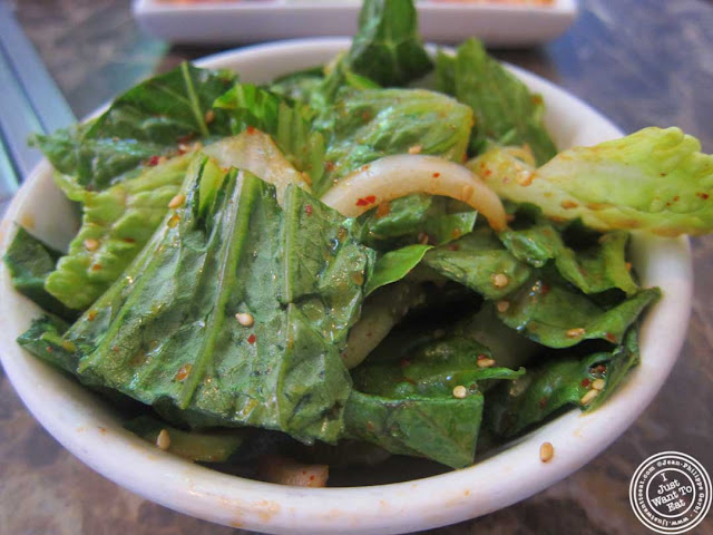 image of sesame salad at Bann Korean restaurant in NYC, New York