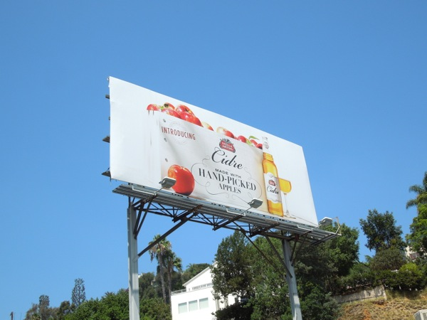 Stella Artois Cidre hand-picked apples billboard