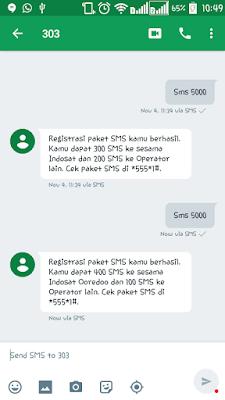 Perubahan Paket SMS 5000 Indosat Ooredoo, Menjadi 400 SMS ke Sesama dan 100 SMS ke Operator Lain