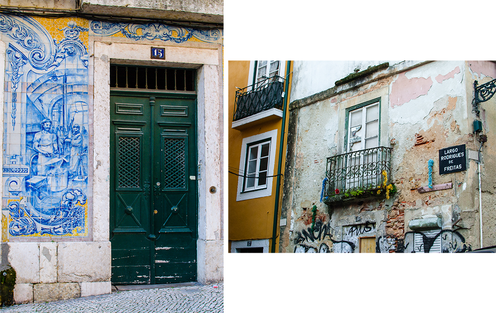 lanscape and streets of lisbon