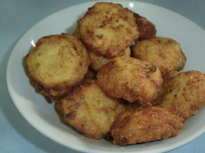 Resepi cucur kentang ... versi isi ikan