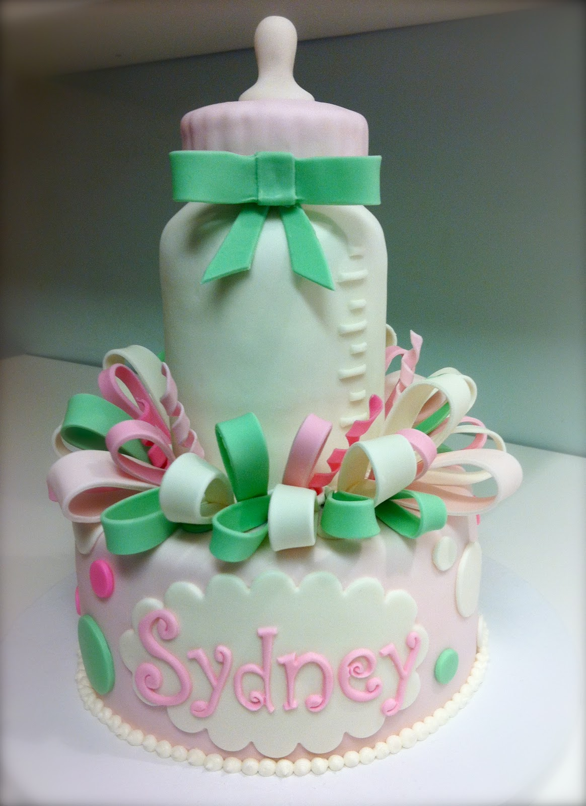 Baby Bottle Cake Images : MegMade Cakes: Baby Shower Cake for Sydney