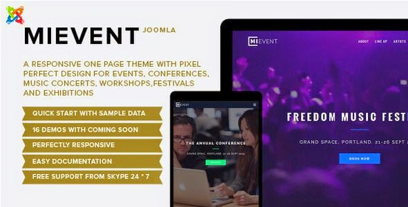 Best Multipurpose Joomla Event & Music Template