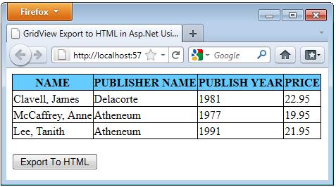 export html as pdf asp.net mvc