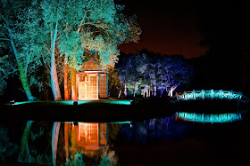 West Green House gardens at night