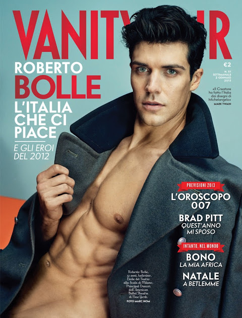 Roberto Bolle by Marc Hom for January's Vanity Fair Italia