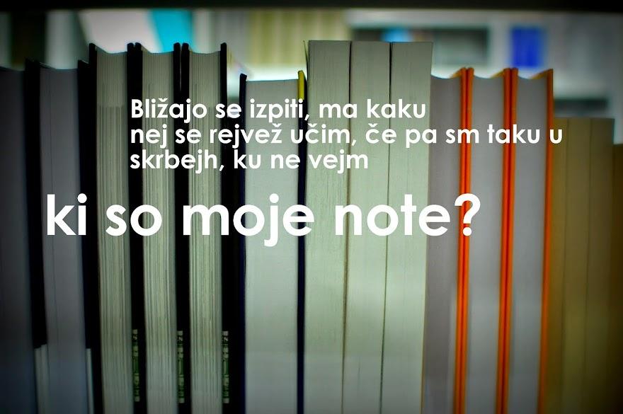 Kje so moje note?