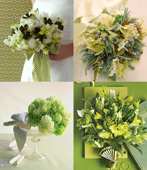 Your wedding flowers Your green wedding tablescapes